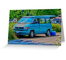 Volkswagon Camper Greeting Card
