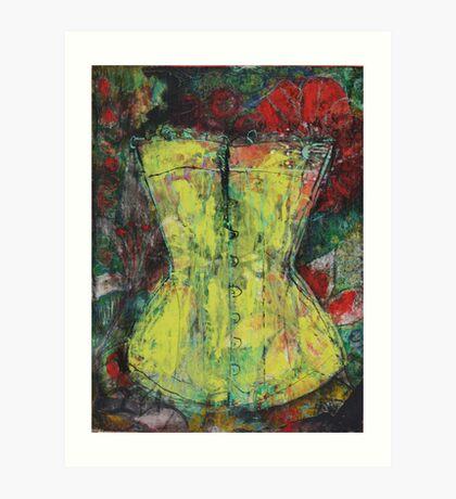 Yellow Corset Art Print