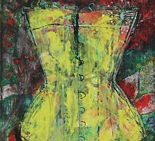 Yellow Corset by Maria Pace-Wynters