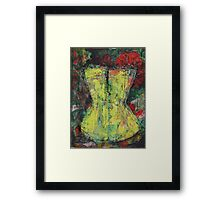 Yellow Corset Framed Print