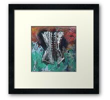 Floating Corset Framed Print