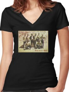 Greetings from San Quentin Women's Fitted V-Neck T-Shirt