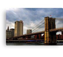 Across the Brooklyn Bridge Canvas Print