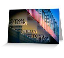 Beach Shops Greeting Card
