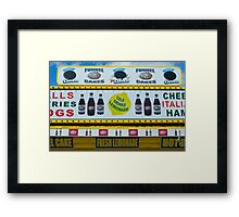 Cold Drinks Lemonade Framed Print