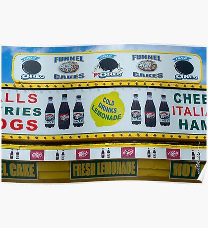 Cold Drinks Lemonade Poster