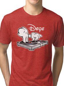 Dope! DJ Cartoon Hands Tri-blend T-Shirt