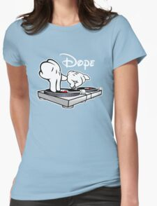 Dope! DJ Cartoon Hands Womens Fitted T-Shirt