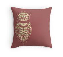 Cute Yellow Owl hand draw  Throw Pillow