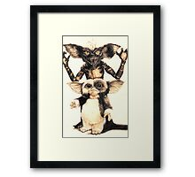 Gizmo and Spike from Gremlins Framed Print