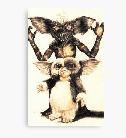 Gizmo and Spike from Gremlins Canvas Print