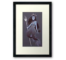 Mystery Mermaid Framed Print