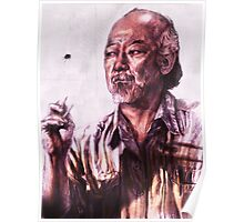 Mr. Miyagi from Karate Kid Poster