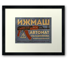 AK-47 (Blue) Framed Print