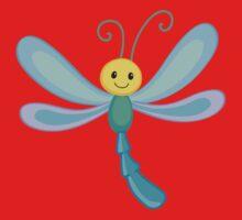 Cute cartoon children dragonfly One Piece - Short Sleeve