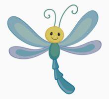 Cute cartoon children dragonfly Kids Tee