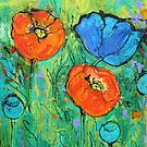 Tangerine And Blue by Maria Pace-Wynters