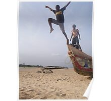 Boys jumping off boat3 Poster