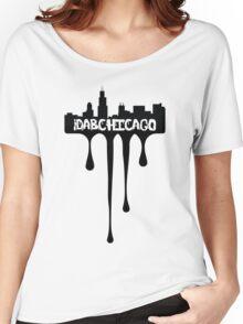iDabChicago Dripping Skyline Women's Relaxed Fit T-Shirt