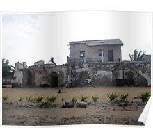 Slave Fort, Africa Poster