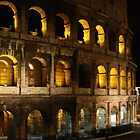 The Roman Colosseum at night. by roger smith