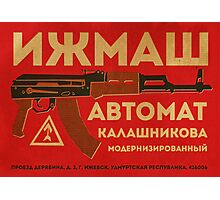 AK-47 (Red) Photographic Print