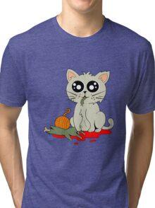 Cannibal Cat Tri-blend T-Shirt