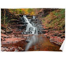 Fall Reflections of F L Ricketts Falls Poster