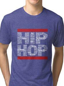 Hip Hop in Black Tri-blend T-Shirt