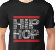 Hip Hop in Black Unisex T-Shirt