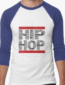 Hip Hop in White Men's Baseball ¾ T-Shirt