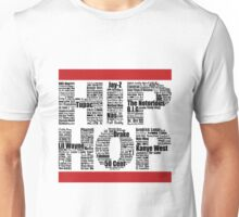 Hip Hop in White Unisex T-Shirt