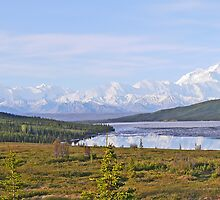 Alaskan Range and Wonder Lake by Graeme  Hyde