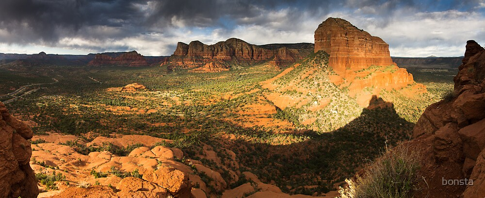 Late afternoon on Bell Rock by bonsta