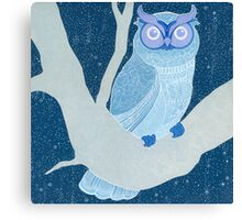 once upon a time owl Canvas Print