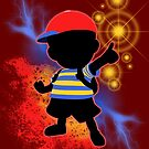 Super Smash Bros. Ness Silhouette by jewlecho