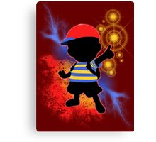 Super Smash Bros. Ness Silhouette Canvas Print