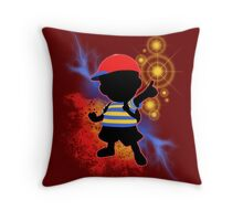 Super Smash Bros. Ness Silhouette Throw Pillow
