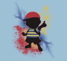 Super Smash Bros. Ness Silhouette Kids Tee