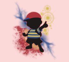 Super Smash Bros. Ness Silhouette One Piece - Short Sleeve