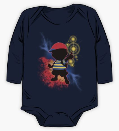 Super Smash Bros. Ness Silhouette One Piece - Long Sleeve