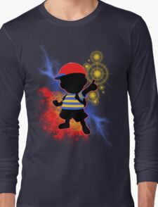 Super Smash Bros. Ness Silhouette Long Sleeve T-Shirt