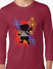 Super Smash Bros. Ness Silhouette Long Sleeve T-Shirt