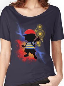 Super Smash Bros. Ness Silhouette Women's Relaxed Fit T-Shirt