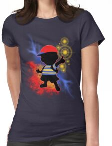 Super Smash Bros. Ness Silhouette Womens Fitted T-Shirt