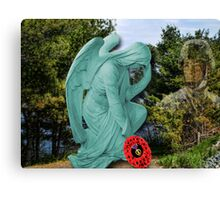 † ❤ †█ ♥ █ ANGEL TEARS OF REMEMBRANCE LEST WE FORGET~WRITTEN POEM BY BONITA & VIDEO I MADE FROM MY HEART IN REMEMBRANCE† ❤ †█ ♥ █ Canvas Print