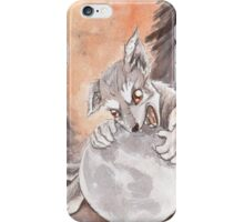 Werewolf Puppy Watercolor Painting iPhone Case/Skin