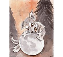 Werewolf Puppy Watercolor Painting Photographic Print