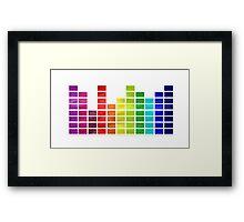 Rainbow Music Visualizer Framed Print