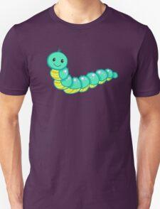 Cute cartoon caterpillar turquoise Unisex T-Shirt